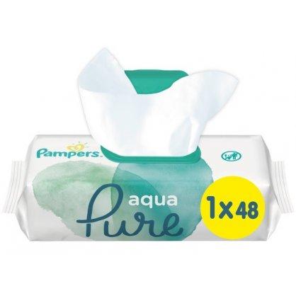 Pampers Aqua Pure 48 Μωρομάντηλα με καπακι
