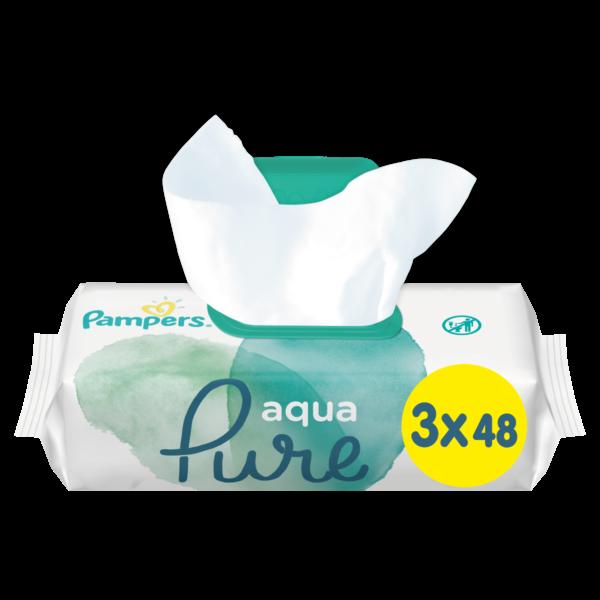 μωρομαντηλα pampers pure 3 x 48