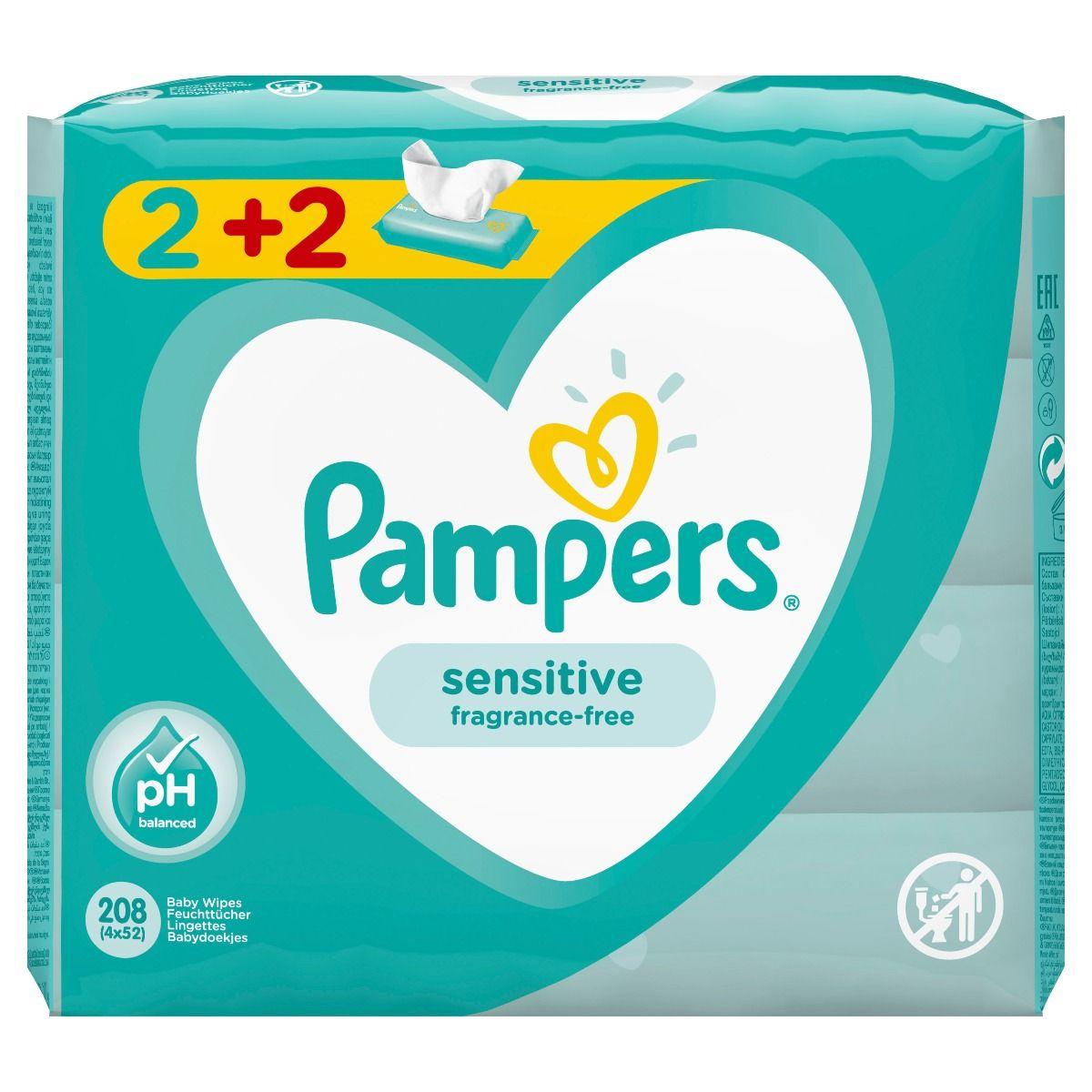 μωρομαντηλα pampers sensitive